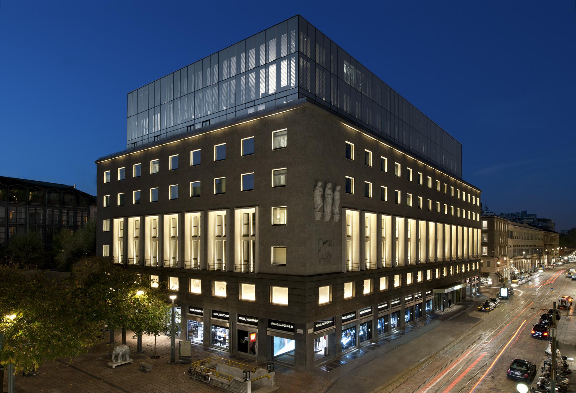 Armani hotel milan silencio hotels luxe exterieur silencio for Hotel the best milano