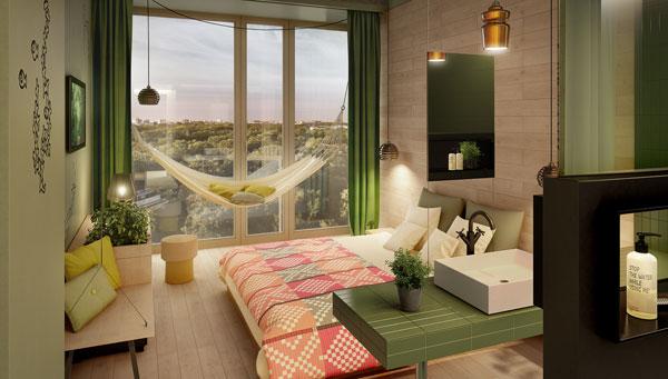 bikini-hotel-berlin-chambre-hamac-silencio