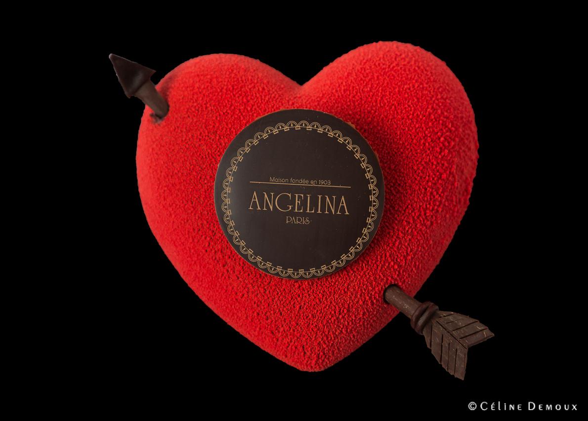 le coeur passion d'angelina pour la saint-valentin (regardez à l